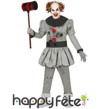 Tenue de clown fou tueur pour homme
