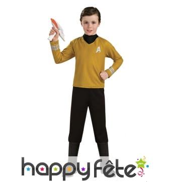 Tenue du Captain Kirk pour enfant, Star Trek luxe