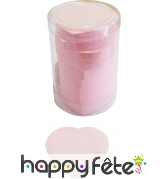 Tube de confettis coeur rose
