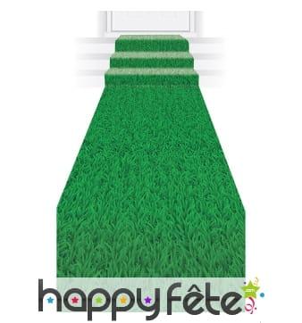 Tapis de déco de pelouse verte, 3mx60cm