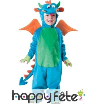 Tenue de Dragon bleu vert pour enfant