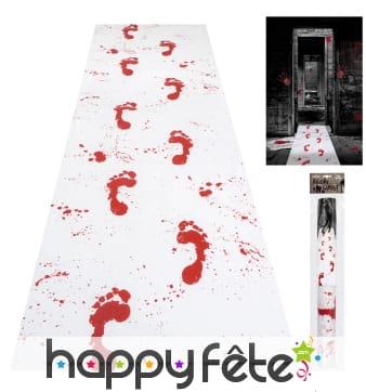 Tapis d'entrée avec traces de sang, 60 x 300 cm