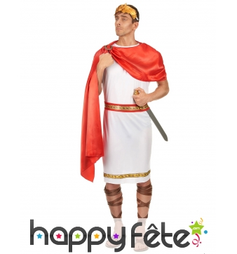 Tenue d'empereur romain grande taille pour adulte