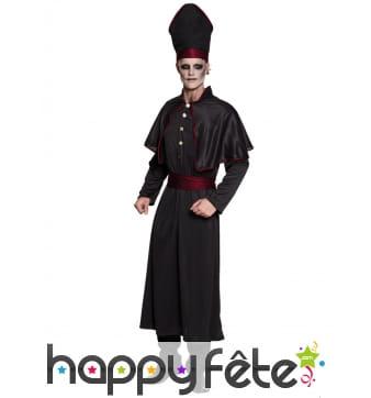 Tenue d'évêque gothique pour adulte