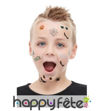 Tatouages d'Halloween pour enfant