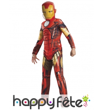 Tenue de Iron Man Avengers pour enfant, luxe