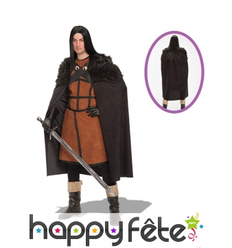 Tenue de Jon Snow Game of Thrones marron noire