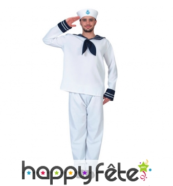 Tenue de marin pour homme adulte