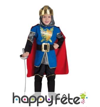 Tenue de petit chevalier bleu et rouge