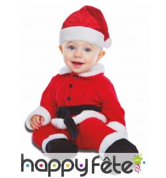 Tenue de petit Père Noël pour bébé
