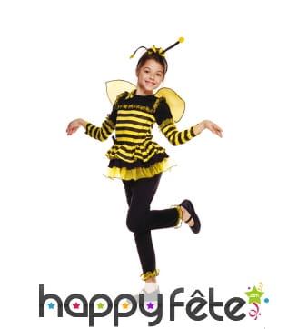 Tenue de petite abeille rayée pour enfant