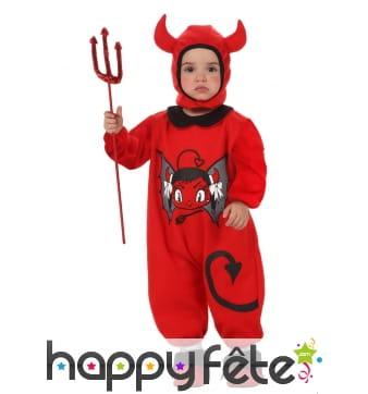 Tenue de petite diablotin rouge pour enfant