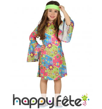 Tenue de petite hippie Peace and Love pour fille