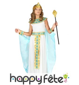 Tenue de petite reine égyptienne avec cape