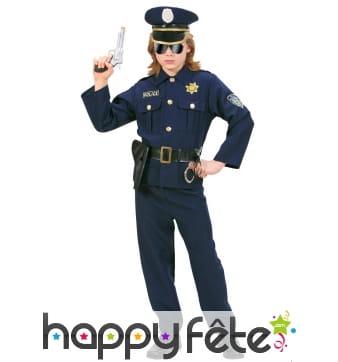 Tenue de policier bleue pour enfant