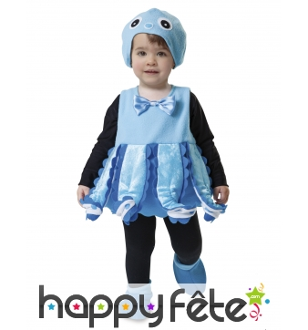 Tenue de poulpe bleu pour bébé