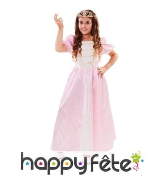 Tenue de princesse rose pour enfant