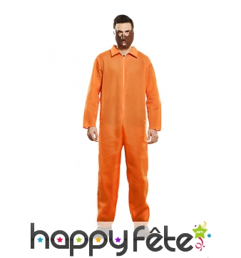Tenue de prisonnier orange is the new black, homme
