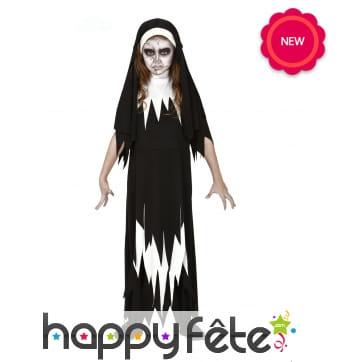 Tenue de religieuse fantôme pour enfant