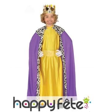 Tenue de Roi Mage jaune pour garçon