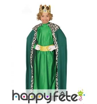 Tenue de Roi Mage vert pour garçon