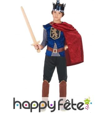 Tenue de roi médiéval pour enfant