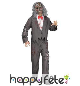 Tenue de serveur zombie pour adulte
