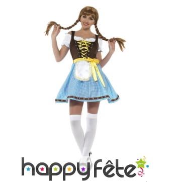 Tenue de serveuse Bavaroise Oktoberfest