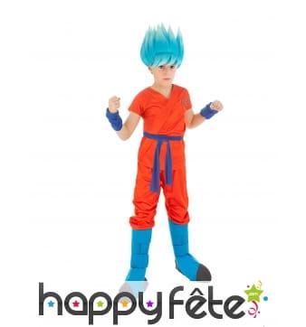 Tenue de Son Goku guerrier divin pour enfant