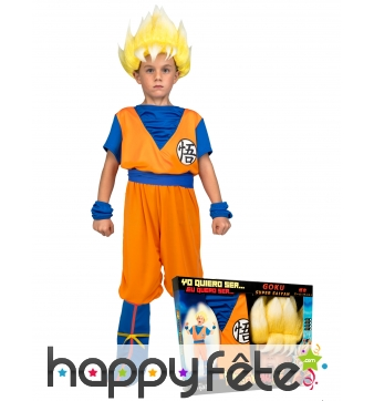 Tenue de Son Goku super guerrier,enfant, coffret