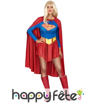 Tenue de supergirl pour femme adulte