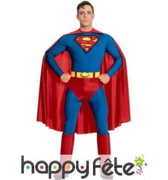 Tenue de Superman pour homme adulte