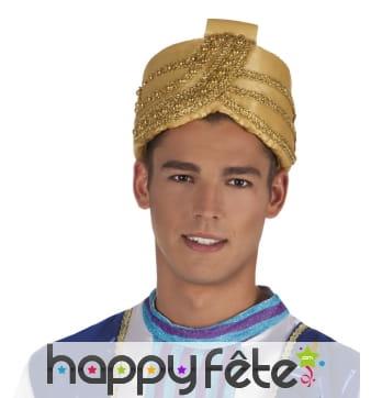 Turban de sultan doré