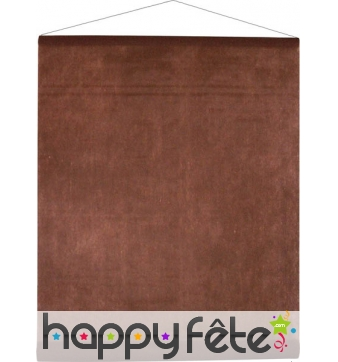 Tenture décorative tissu chocolat