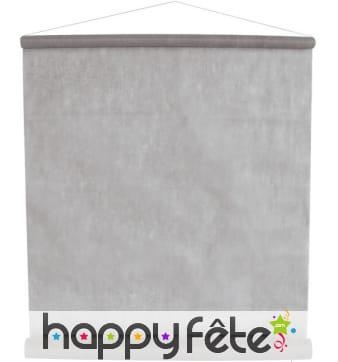 Tenture décorative tissu gris