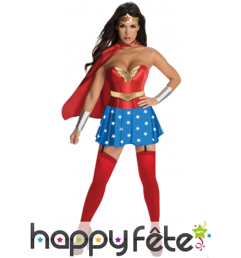 Tenue de Wonder Woman pour femme adulte