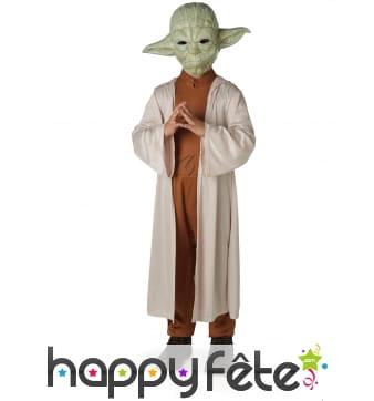 Tenue du Yoda,Star Wars de luxe avec masque enfant