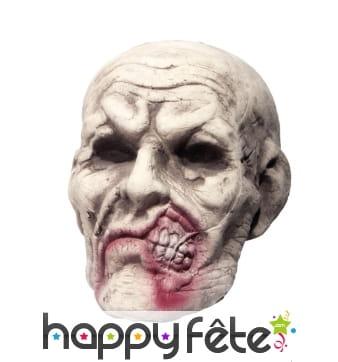 Tête de zombie décorative en polystyrène