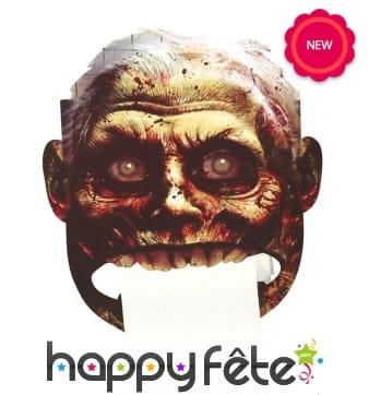 Tête de zombie pour porte papier toilette