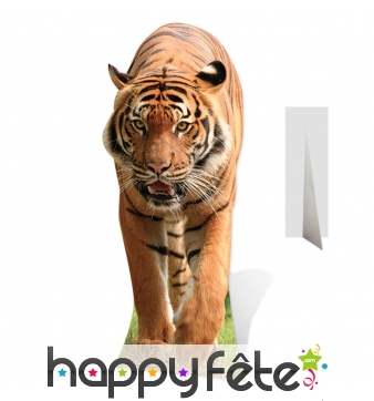 Tigre en carton plat, taille réelle