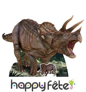 Tricératops en carton plat de 128cm