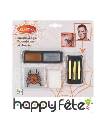 Tatoo et maquillage à paillettes pour Halloween
