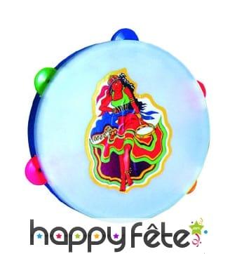 Tambourin en plastique et cymbales