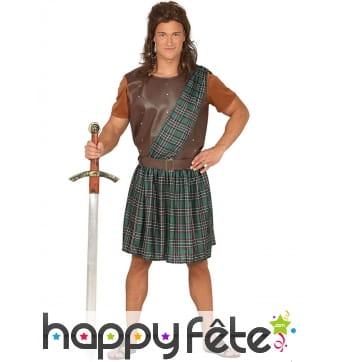 """Tenue écossaise style """"Braveheard"""" pour homme"""