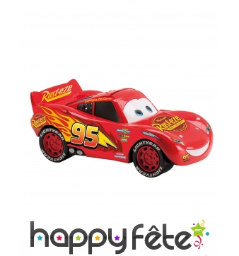 Tirelire Flash McQueen avec friandises, Cars