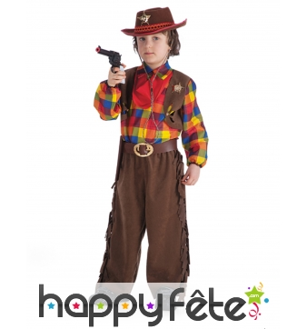Tenue Far West de shérif avec son chapeau
