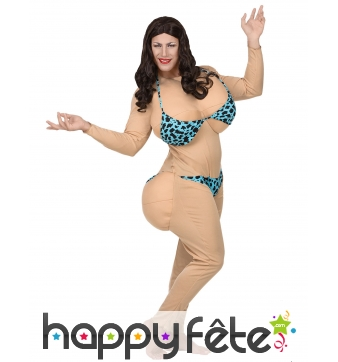 Tenue humoristique de bimbo en bikini, adulte