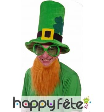 Très haut de forme Saint Patrick avec barbe