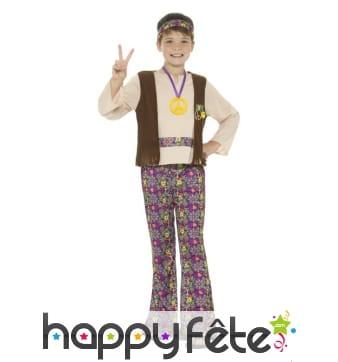 Tenue hippie fleurie pour enfant