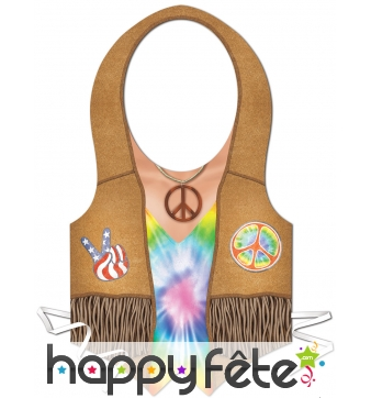 Tablier imprimé hippie